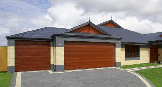 Daintree garage door timber look door jarrah cedar for Door zone garage doors