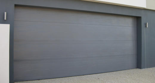 Stylish and modern colorbond door
