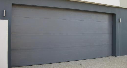 Stylish and modern colorbond door & Cosmopolitan - Wood grain Roller door